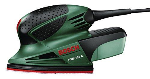 Bosch PSM 100 A - Multilijadora, 3 hojas de lija K 80/ K 120/ K 160