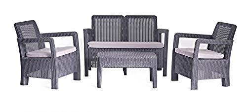 Conjunto de jardin de 4 plazas Tarifa Lounge con cojines incluidos