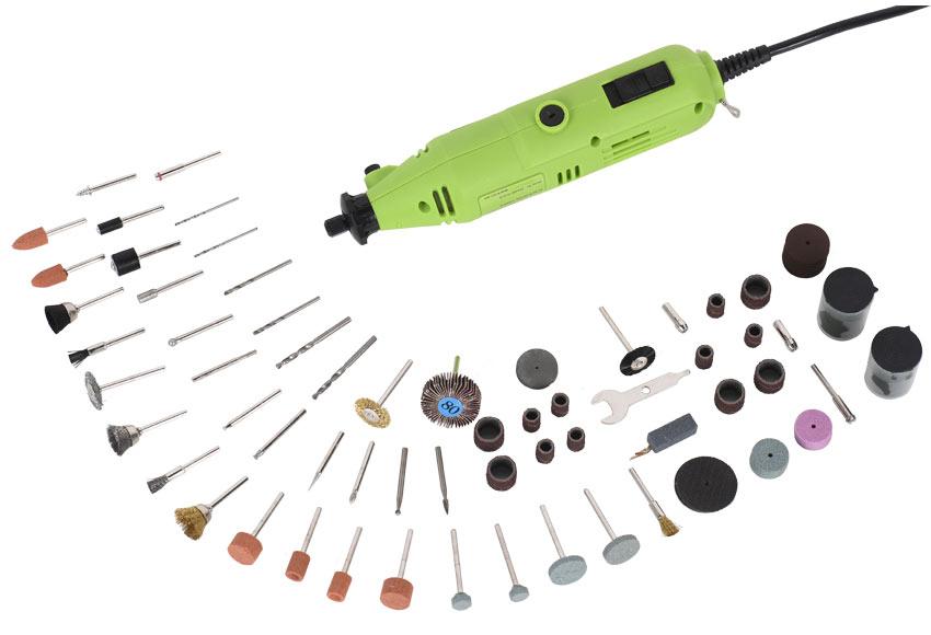 Amoladora con cable 130W CON 165 Accesorios