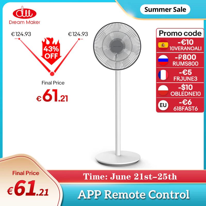 Ventilador idéntico al Xiaomi Standing Floor Fan 2, pero con batería y mando a distancia bluetooth (desde España) (leer descripción)