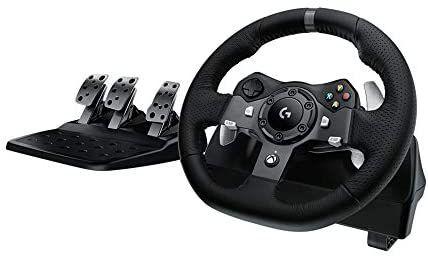 Logitech G920 Driving Force Volante de Cuero, Xbox Series X|S, Xbox One, PC - (Reaco muy bueno)