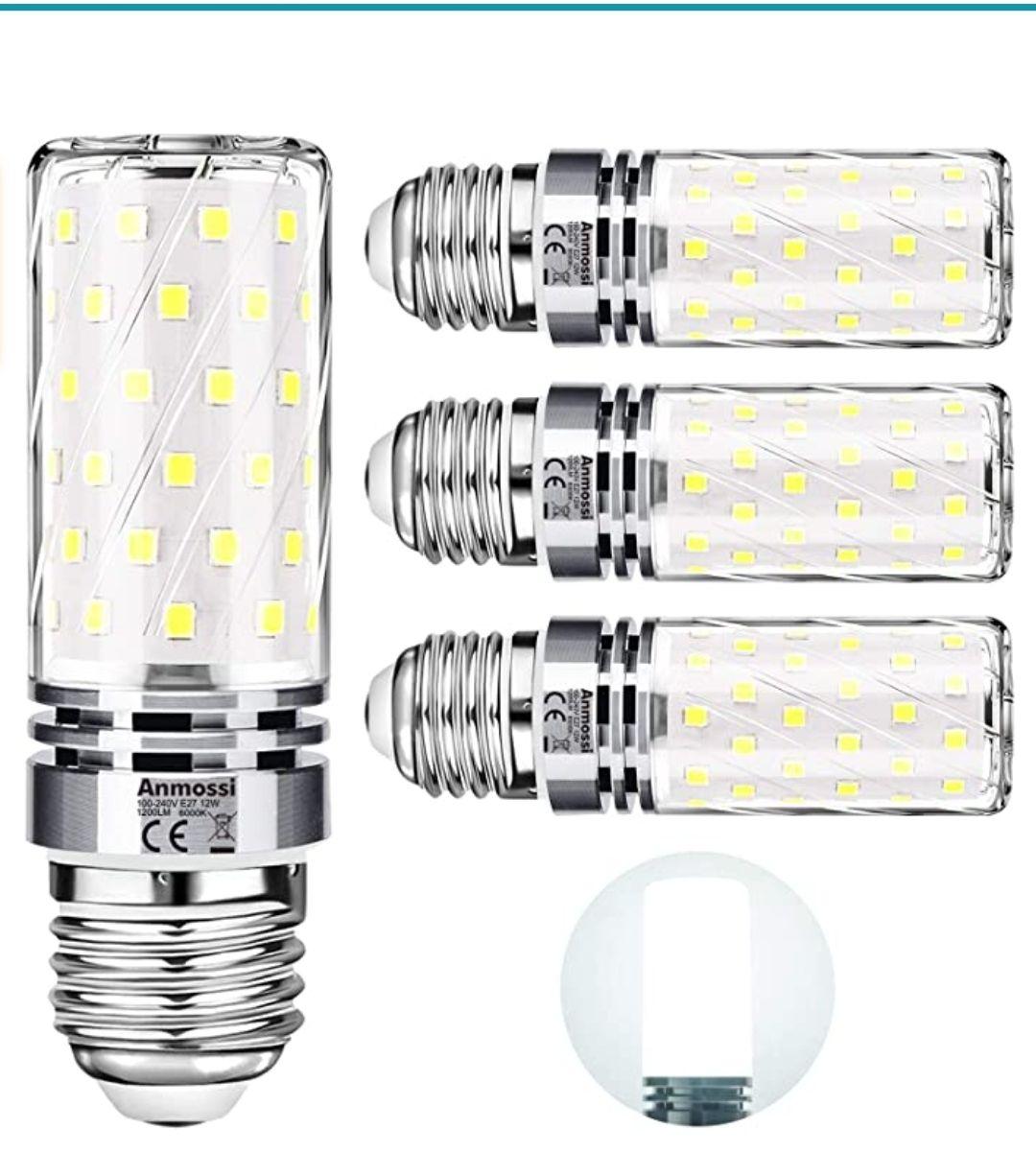 Bombillas LED E27,12W. Equivalente a 100W, 4 unidades [Clase de eficiencia energética A+]