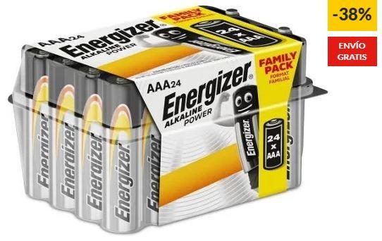 Pilas Energizer AAA LR03 (Paquete de 24) + envio gratis