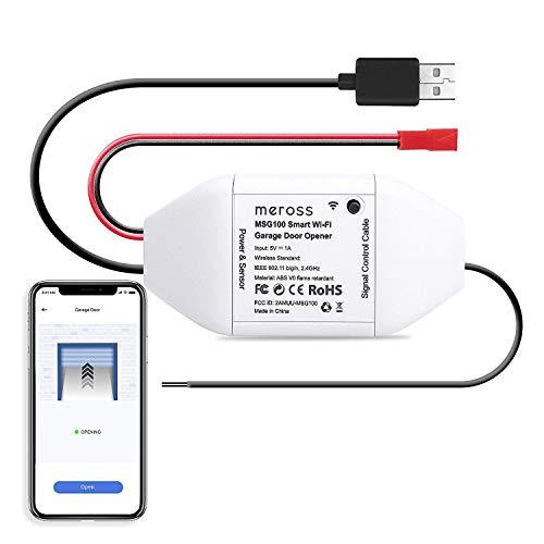 Controlador de puertas de garaje WiFi compatible con Alexa, Google assistant y SmartThings MEROSS