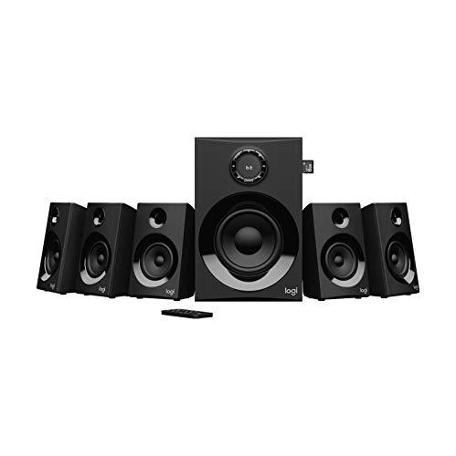 Logitech Z607 5.1 Sistema de Altavoces Buetooth con Sonido Surround 5.1, 160W de Pico, Graves Potentes, Entradas de 3.5 mm/RCA,
