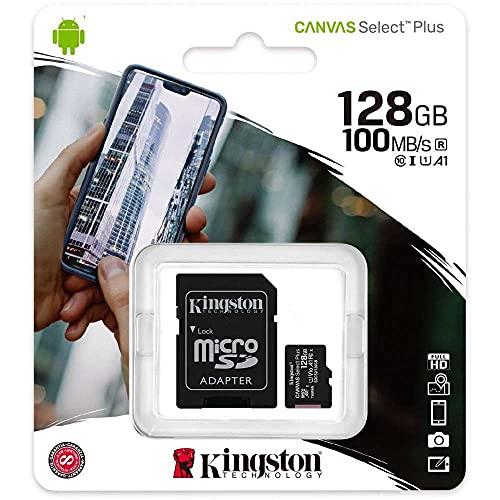 Kingston Canvas Select Plus Tarjeta microSD, SDCS2/128GB Class 10 con Adaptador SD