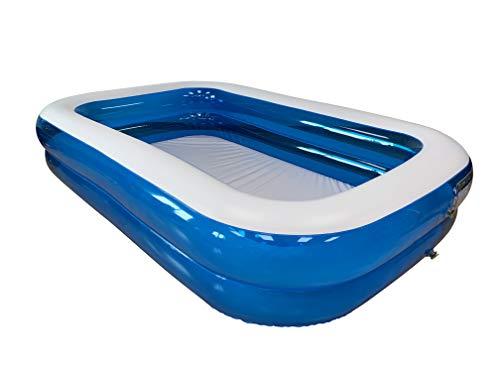 Piscina Hinchable Rectangular 660 litros, 260x175x51cm, Azul/Transparente