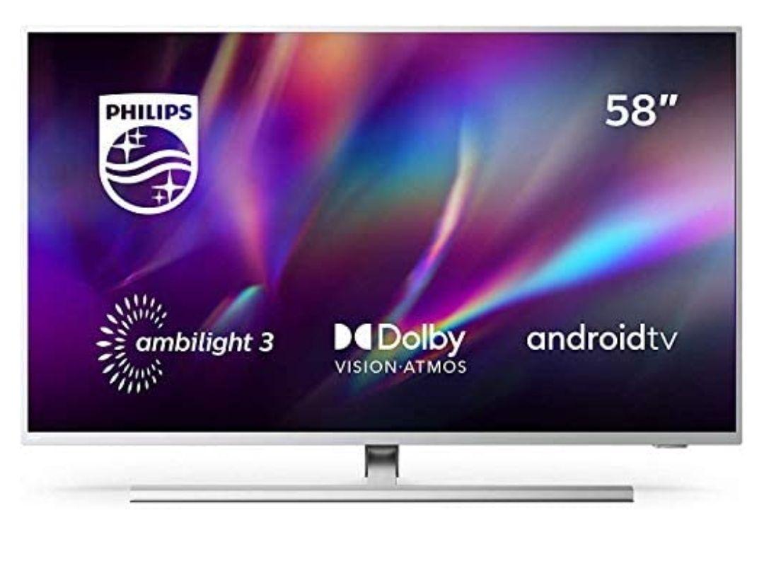 Philips Ambilight 58PUS8505/12 - Televisor Smart TV de 58 Pulgadas (4K UHD, P5 Picture Engine, Dolby Vision, Android TV),