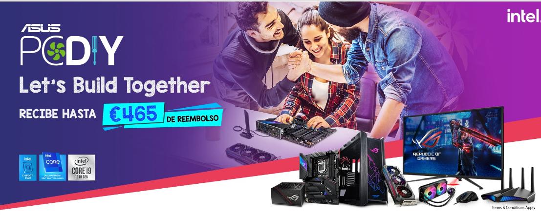 Vuelve la ASUS PROMO.Compra productos ASUS Gaming seleccionados y llévate hasta 465€ de reembolso!