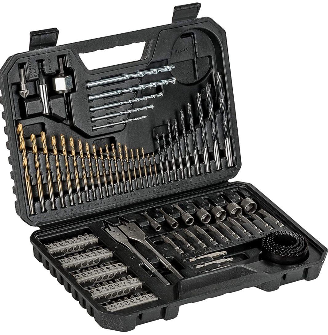 BOSCH Set de brocas y puntas de atornillar de 103 unidades Titanium, madera, piedra y metal