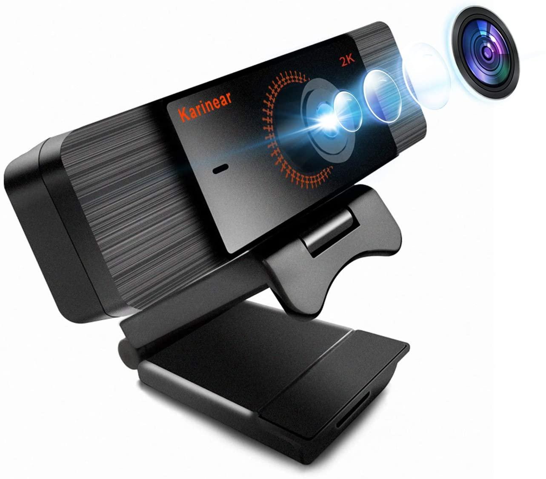 Webcam 2K micrófono dual solo 2.7€