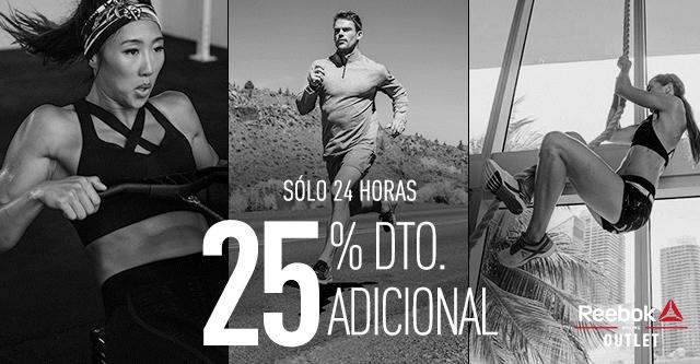 25% de descuento Outlet de Training Reebook SOLO HOY