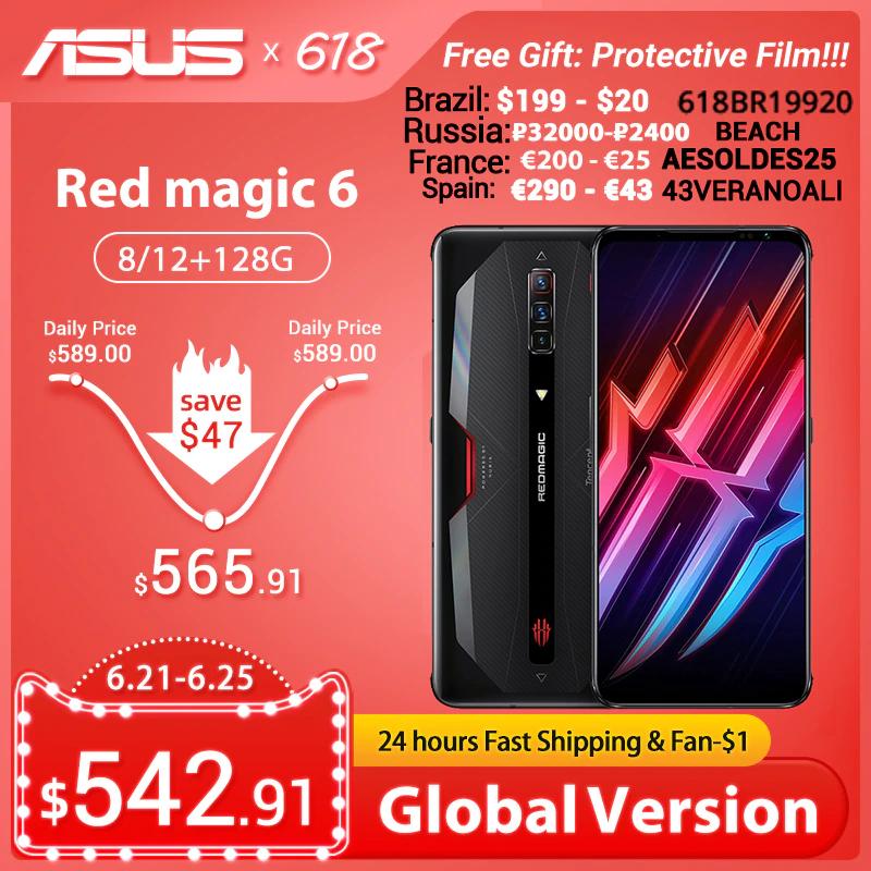 Nubia Red Magic 6 PRO 8GB/128GB 5G 165Hz AMOLED Snapdragon 888 Versión Global