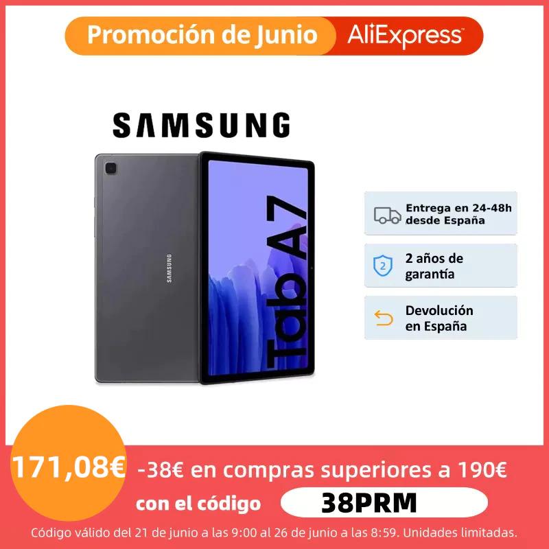 "Tablet SAMSUNG Galaxy Tab A7 WiFi/4G, TFT 10.4"" WUXGA+, 3GB + 64GB (ampliable con MicroSD), 7040mAh, 4 altavoces, Dolby Atmos"