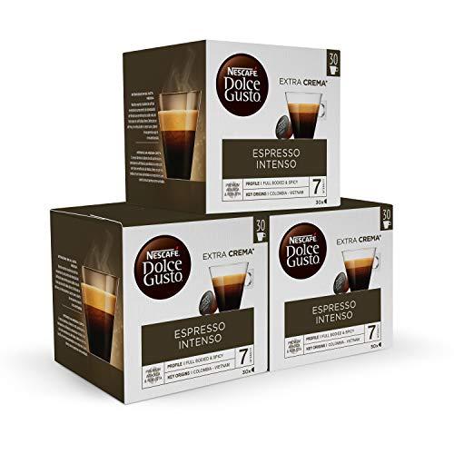 Nescafé DOLCE GUSTO Magnum ESPRESSO INTENSO - Cápsulas de Café 3 x 30 - 90 Cápsula