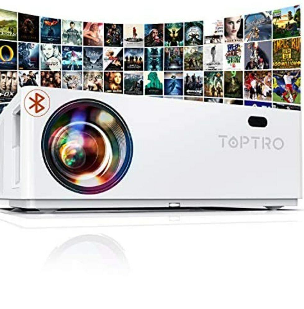 Proyector TOPTRO TR81, 1080p Nativos, 7500 lúmenes led, bluetooth etc...