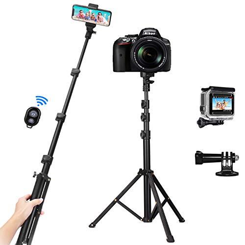 Palo Selfie Trípode, 53'' Movil, Compatible con Gopro, y Bluetooth Control Remoto. Por 11,89€