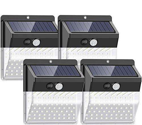 Pack de 4 focos solares con sensor de movimiento