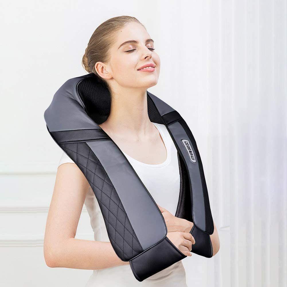 Masajeador para hombros, espalda, cuello Shiatsu, con función de calor