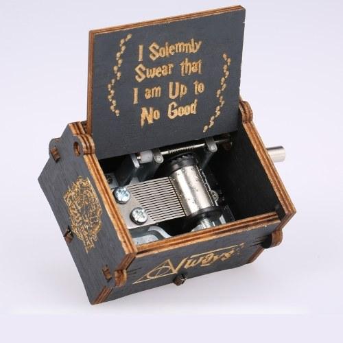 Caja de música de madera Harry Potter
