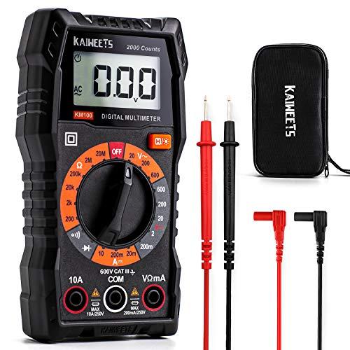 KAIWEETS KM100 Multímetro Digital, Polimetro para Medir Continuidad