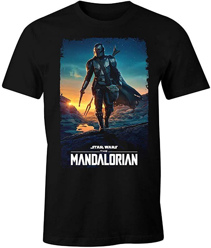 Camiseta de hombre Star Wars – The Mandalorian, color negro Talla XXL