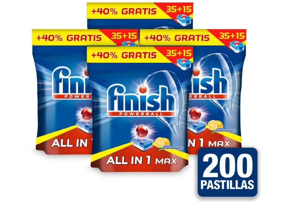 Finish todo en 1 200pastillas solo 13.8€ (desde España)