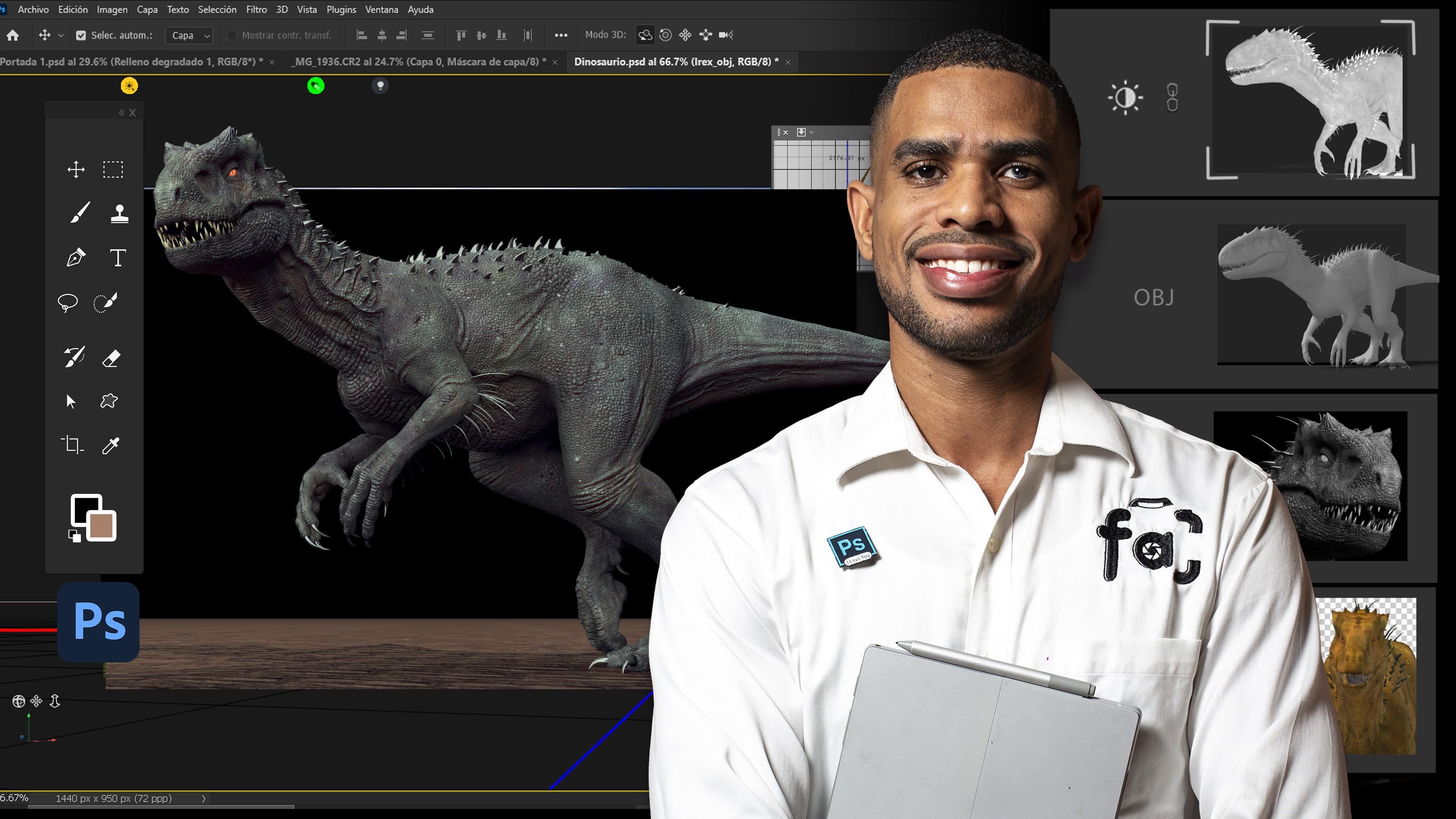 Photoshop para la animación, el video y el 3D GRATIS