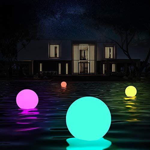 Luces flotantes piscina, 4 Piezas Luz de Bola Impermeable