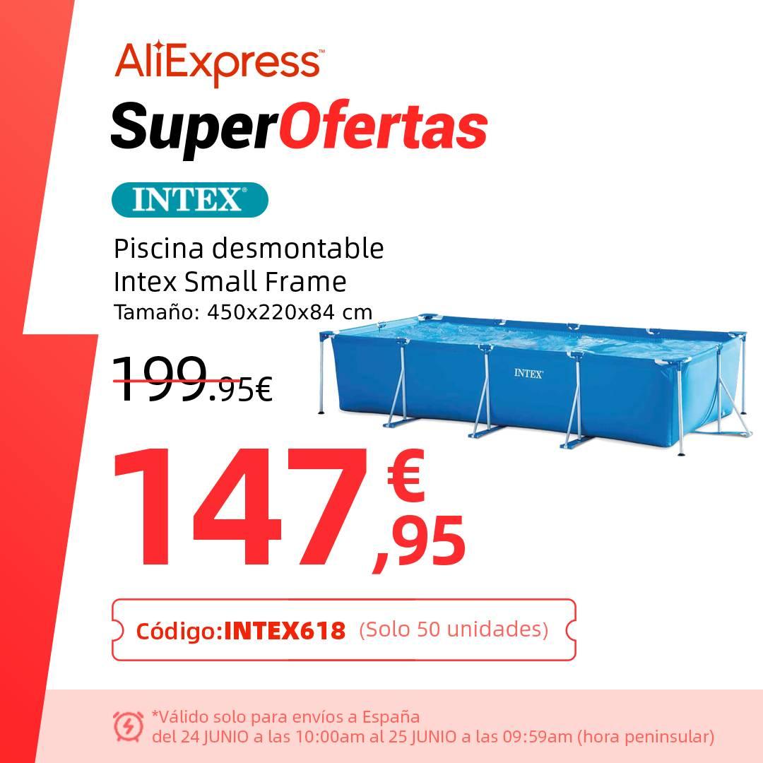 Piscina desmontable rectangular Intex Small frame desde España por 147,95 € (450x220x84 cm)