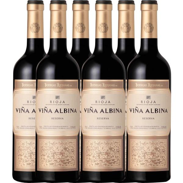6 BOTELLAS VIÑA ALBINA RESERVA (RIOJA) (RECOGIDA GRATIS)
