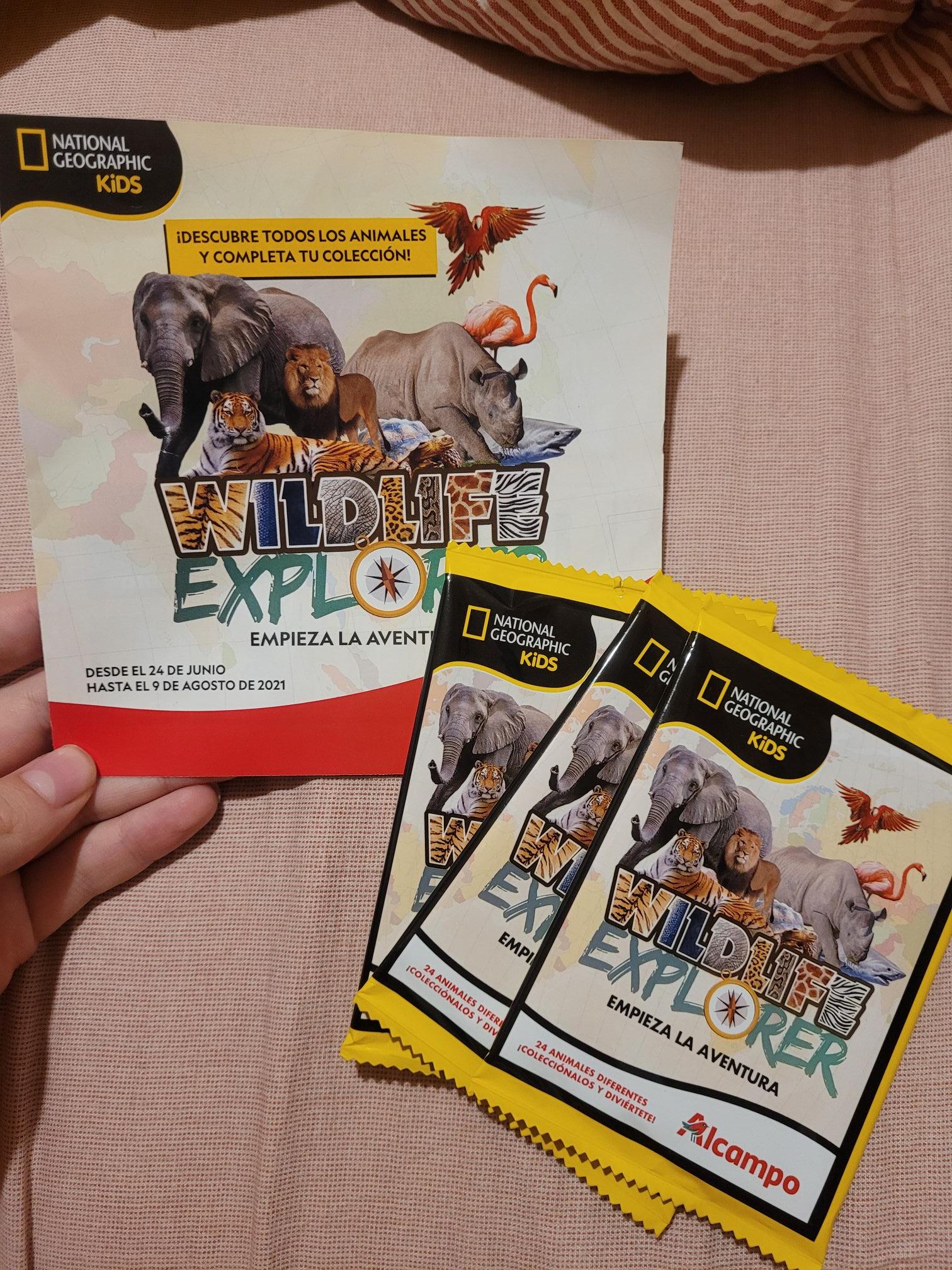 Sobre de National Geographic Kids gratis por cada 15€ en Alcampo