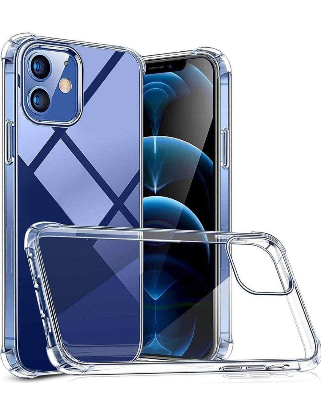 Funda iPhone 12 y 12 Pro , transparente , protectora contra caidas, Ultra Fina