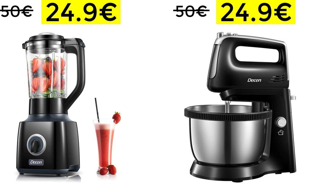 Batidora de vaso 1.5L 700w 24.9€//Batidora amasadora 300w 3.5L 24.9€