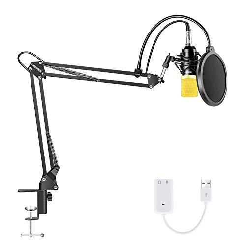 Neewer NW-700 Micrófono de Condensador con Soporte Brazo