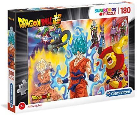 Clementoni- Supercolor Puzzle-Dragon Ball Super-180 Piezas, Multicolor