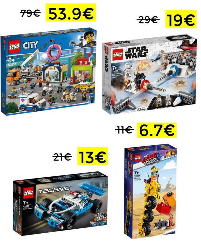 Descuentos en selección playsets Lego