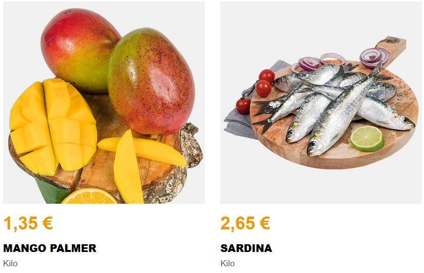 Sardinas a 2,65€ y Mango a 1,35€/Kg