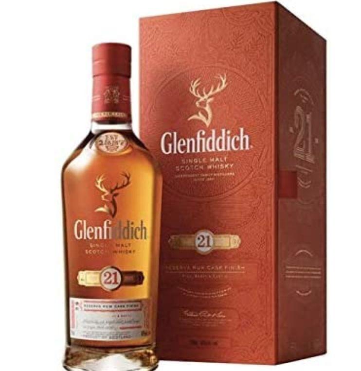 Glenfiddich 21 Years Old Reserva Rum Cask Finish Single Malt Scotch Whisky 40% Vol. 0,7L