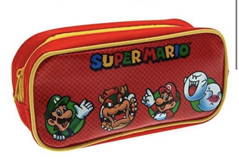 Estuche nintendo súper Mario 21cm x 10cm x 10cm
