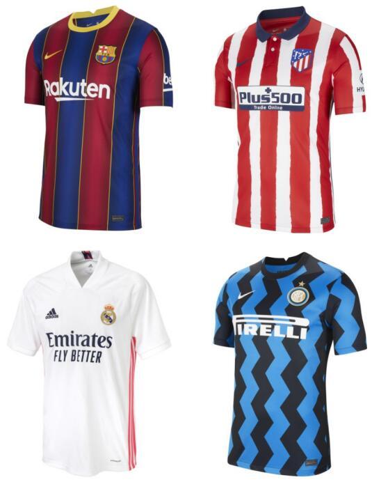 Camisetas de fútbol varios equipos solo 44.9€