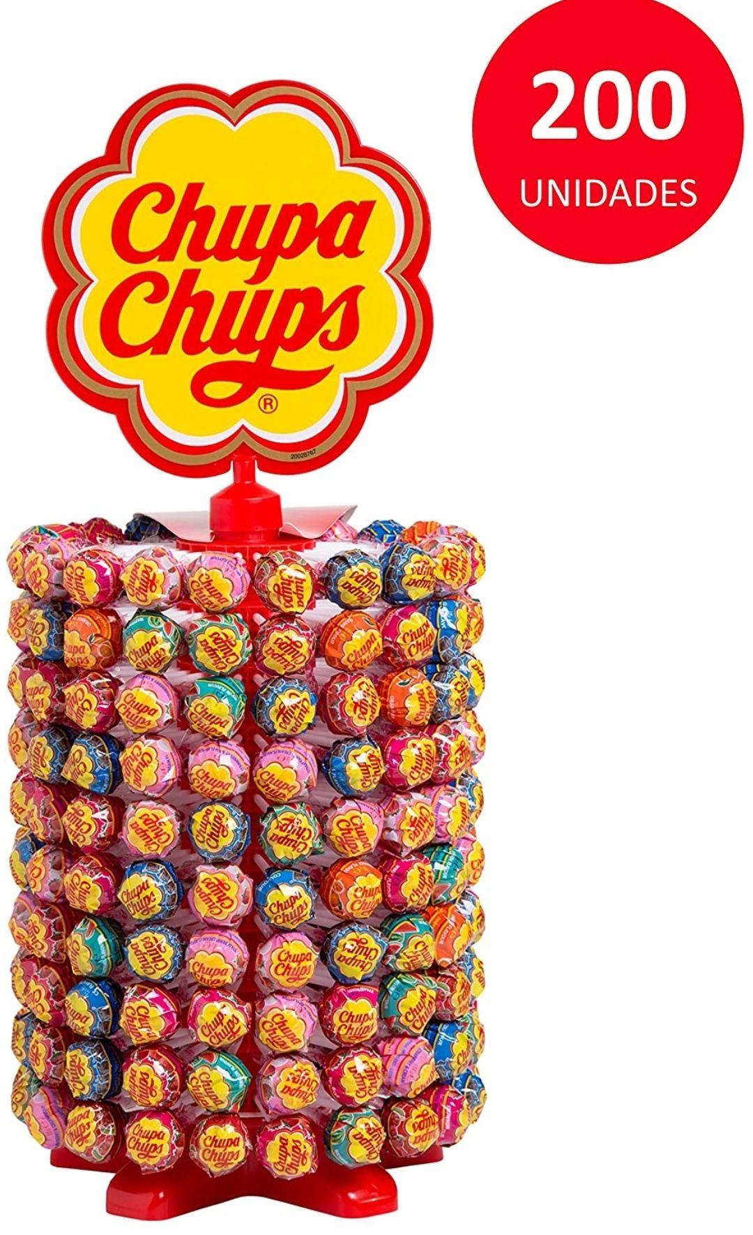 Chupa Chups Original, Sabores Variados, 200 unidades de 12 gr. (Total 2.400 gr.) 0'13€/unidad