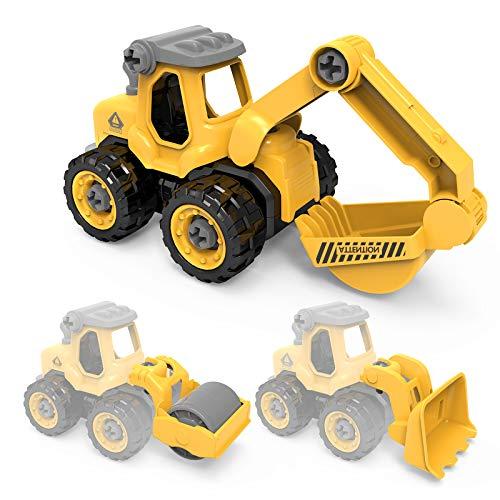 Vehículos de Construcción para Niños,3 en 1,Desmontable,Juguete Educativo