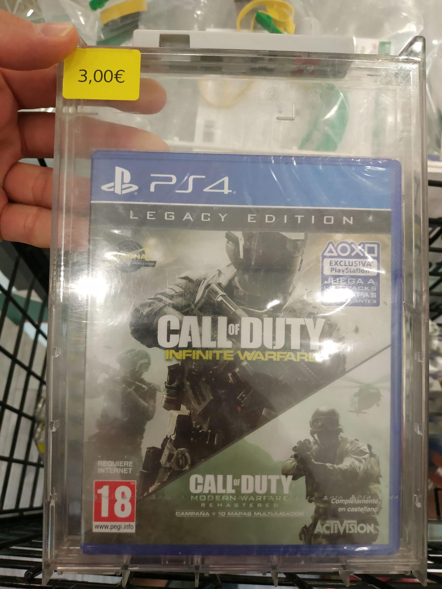 Call of Duty Infinite Warfare/Modern Warfare PS4 en Carrefour Alcobendas