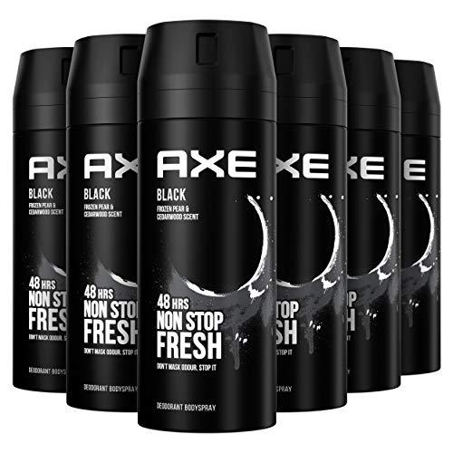 6x Axe Black Rock Desodorante