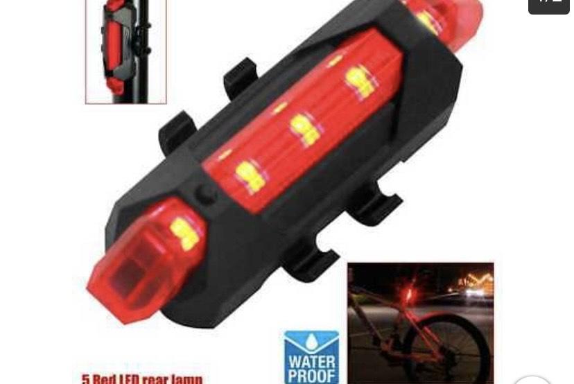 Luz 5 LEDs Trasera Bicicleta