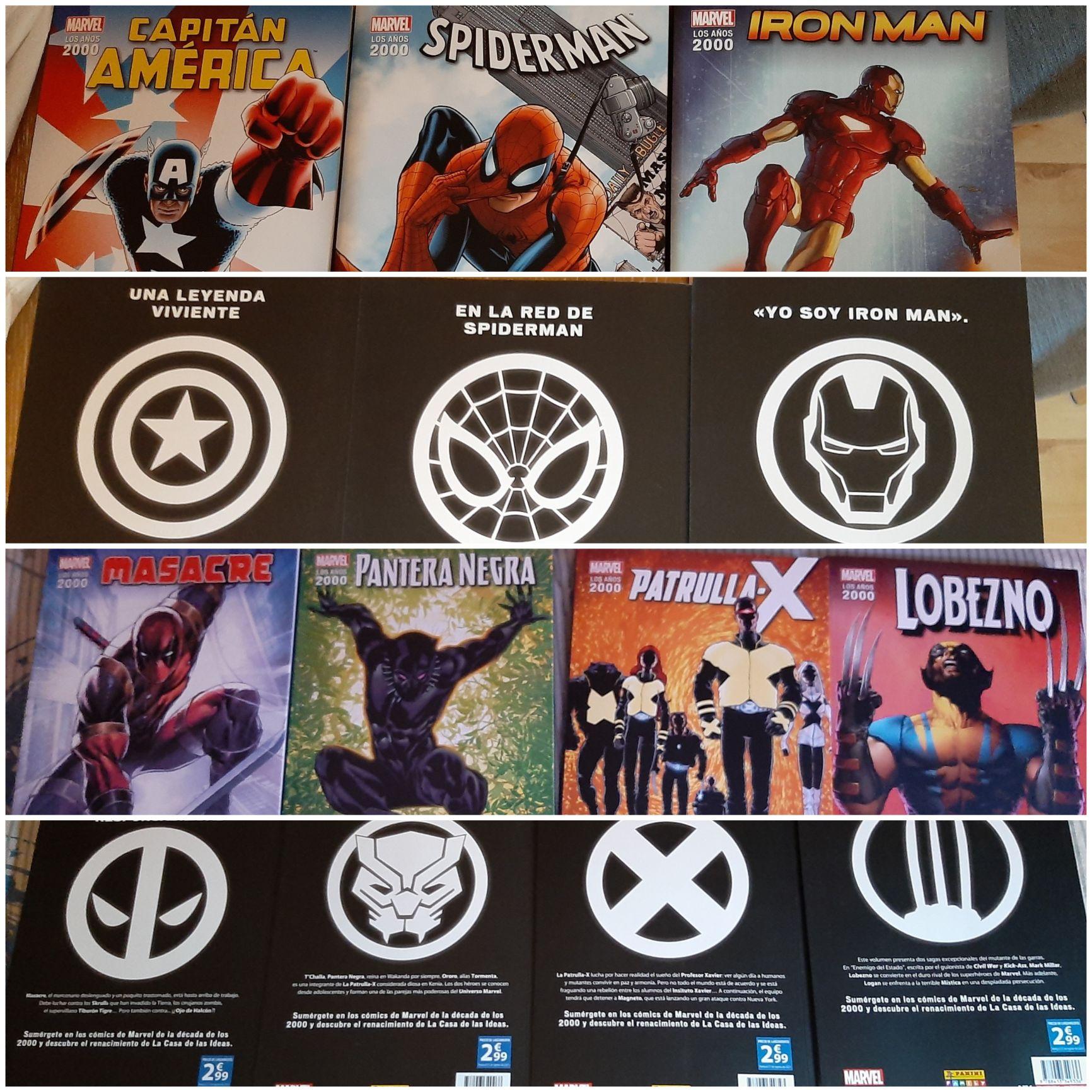 Cómics Superhéroes Marvel. 10 tipos y 240 páginas