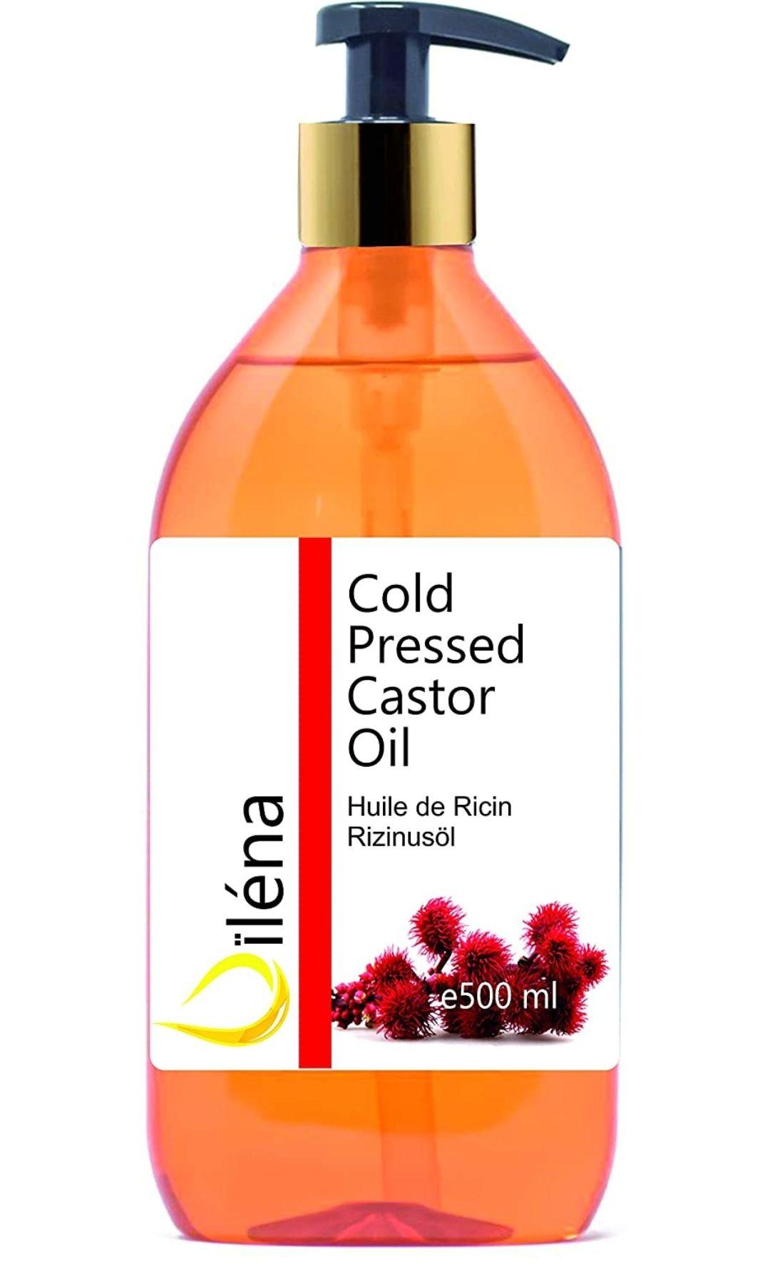 Aceite de Ricino Puro, Castor Oil, Acelera el Crecimiento del Pelo, Pestañas, Barba y Uñas