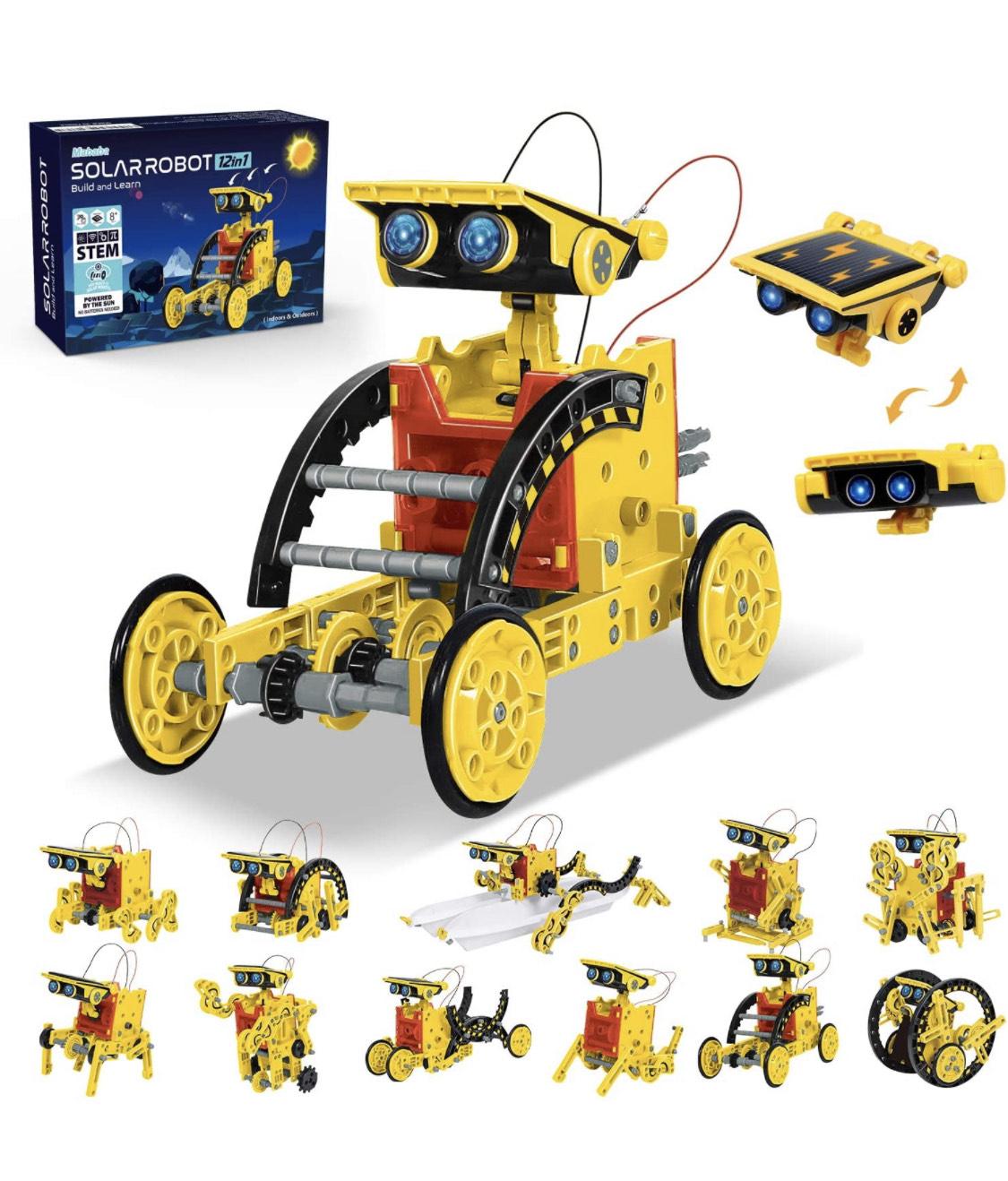 Kit de construcción de robot solar 12 en 1.