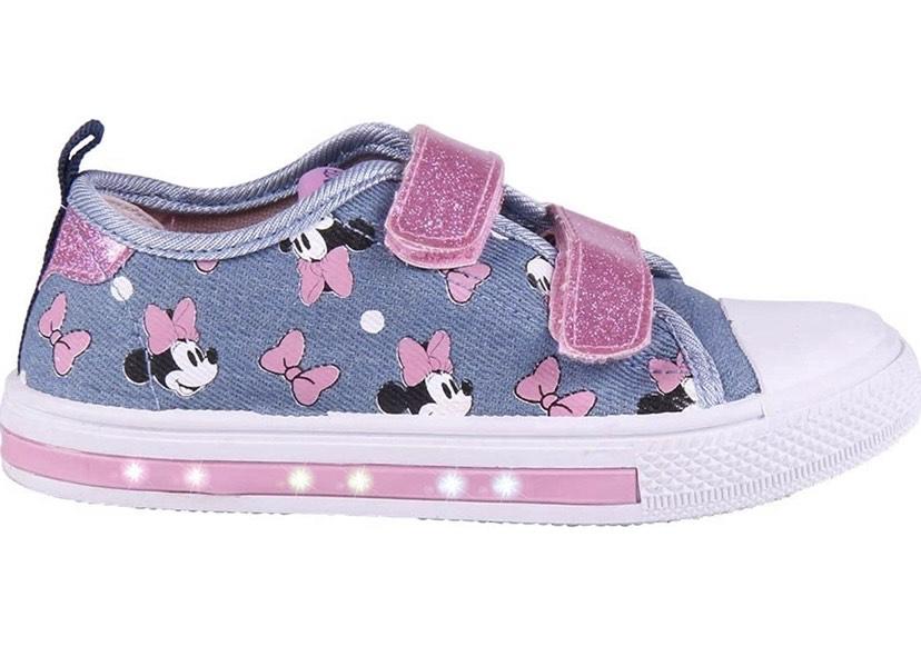 Talla 24 zapatillas Loneta de Minnie Mouse-Licencia Oficial Disney